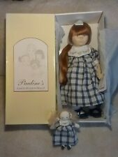 """Pauline's Sally 1997 21"""" Cloth Doll New in Box with Tag and Baby"""