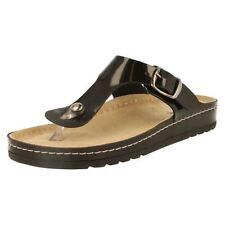 Sandali e scarpe nere Rohde per il mare da donna