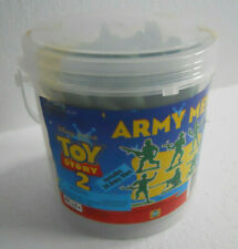 Disney Pixar Toy Story Green Army Men Bucket of 24 Soldiers Military Collection