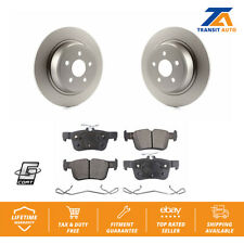 Rear Coated Disc Brake Rotors Semi-Metallic Pad Ford Edge Fusion Lincoln MKX MKZ