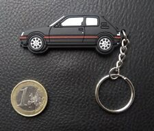 ⭐🇫🇷NEUF PORTE CLE PEUGEOT 205 GTI NOIR SILICONE SOUPLE KEYRING CADEAU CLEF KEY
