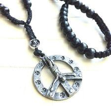 Cruz cadena Peace cuerno alas rosario Surfer cartucho Dog Tag Wing Rosary kp1