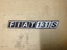 FIAT  131   SCRITTA