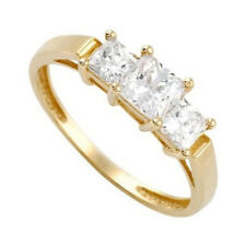 w Cubic Zirconia Size 9 14K Solid Gold Ladies Ring