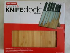 Knifedock Bamboo Magnetic Counter Top Knife Block Collapses