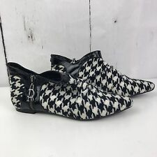 Red Or Dead Black Off White Patterned Boots Size 37 New Zip Logo 80s Look