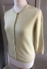 GAP Pale Yellow 100% Cashmere Cardigan Size S