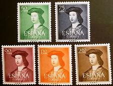 ESPAÑA 1952,EDIFIL 1106/1110** V CENTENARIO NACIMIENTO FERNANDO EL CATOLICO