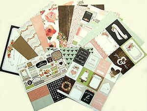 Carta Bella  [RUSTIC ELEGANCE]  Textured Wedding Paper & Sticker Kit -  Save 30%
