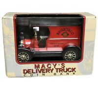 ERTL Collectibles 1/25 Die-cast 2002 Macy's Delivery Truck Coin Bank NIB