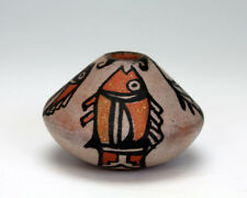 Kewa - Santo Domingo Pueblo American Indian Pottery Fish Pot - Robert Tenorio