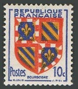 France 616 block/4,MNH.Michel 846. Arms 1949.Burgundy.