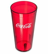 New Lot (6) Coke Coca Cola Restaurant Ruby Red Plastic Tumblers Cups 20 oz