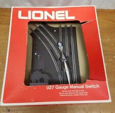 "LIONEL 027 GAUGE 27"" PATH MANUAL LEFT HAND SWITCH turnout turn 6-5021 Lot"