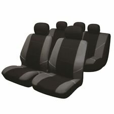 Black/Grey Full Set Front & Rear Car Seat Covers for Renault Scenic All Models