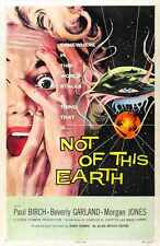 Pas de cette terre Poster 01 métal signe A4 12x8 aluminium