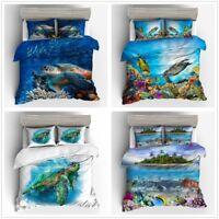 3D Clownfish Sea Turtle Duvet Cover Bedding Set Pillowcase Comforter Cover Set