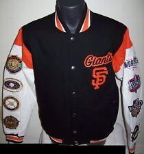 SAN FRANCISCO GIANTS 8 Time WORLD SERIES CHAMPIONSHIP Jacket Sewn Logos