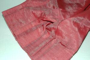 Mauve Pink Self Lined Antique Satin Nub Weave Pinch Pleat Drapes - NOS -  NIP