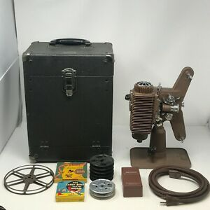 Revere Model 85 8mm Vintage Projector in Case with Reel Cord & Maintenance Kit