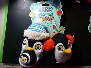BARK Penguin Holiday Dog Toy - Happy Squeak Feet