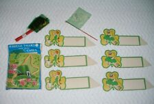 Vintage 1920's-1950's Little St. Patrick's Day Novelties, Tallies, Silk Flags