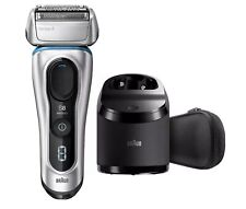 Braun Series 8 Wet/Dry Electric Shaver with Travel Case Cleaning Station 8370cc.