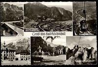 1962 s/w Postkarte BAD REICHENHALL b/ Berchtesgaden 6 alte s/w Ansichten