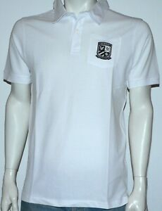 Mens Lyle & Scott White Collard Polo Shirt Heritage Logo, size Large