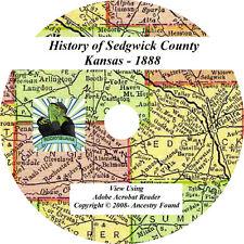 1888 History & Genealogy SEDGWICK County Kansas KS