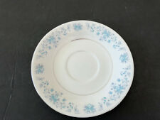 China Pearl HELEN Blue Flowers, Platinum Trim - TEA CUP SAUCER