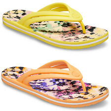 Crocs Crocband Tie Dye Mania Flip Flops Beach Summer Holiday Womens Sandals