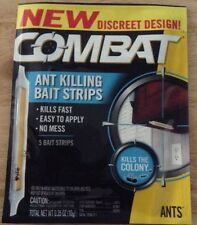 Combat New Discreet Design Ant & Insects Killing Bait Strips kills the colony x5