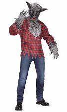 Werewolf Wolfman Silver Grey Adult Costume