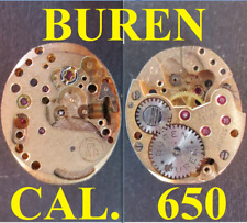 buren cal. 650 baa movimento movement manual old watch parts not working vintage