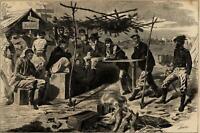 Winslow Homer Civil War Thanksgiving Celebration 1862 Harper's Weekly print