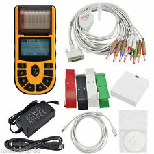 FDA 1 Channel 12 leads ECG EKG Electrocardiograph+USB+PC software,Printer,ECG80A