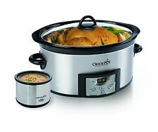 Crock-Pot SCCPVC605-S 6-Quart Countdown Oval Slow Cooker with Dipper Stainles...