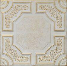 Decorative Ceiling Tiles Styrofoam 20x20 R28 White Satin Washed Gold