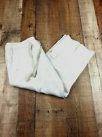 Eddie Bauer Cropped Beige 100% Linen Pants Size 8 Inseam 21