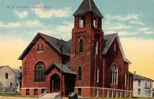 Ithaca Michigan ME Church Exterior Street View Antique Postcard K25422