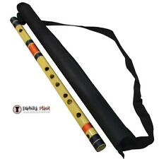 Scale C Bass 19'' Inches Polished Bamboo Bansuri Flute  With Carry Bag
