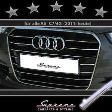 AUDI A6 C7 Typ 4G Chrom Zierleisten Chromleisten für Kühlergrill 3M