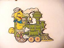 VINTAGE NURSERY SESAME STREET CARDBOARD TRAIN CUT OUT DIE WALL HANGING ADORABLE!
