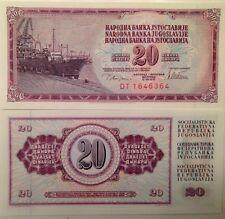 YUGOSLAVIA 1978 20 DINARA UNC BANKNOTE P-88 SHIPYARD & CARGO SHIP USA SELLER !!!
