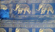 100% Thai Silk Tablecloth Elephant Design Many Colours available 153x201cm