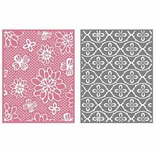 Lifestyle Crafts GooseBumpz, 2- Pk, A2 Embossing Folders FLOWER PATCH ~EF0035