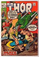 Marvel Comics  FN+ 6.5  mid grade THOR  #178 1970  AVENGERS one god must fall