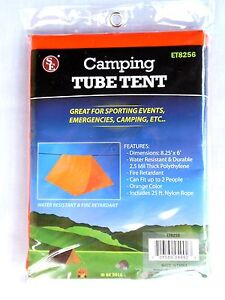 Lot of 2 Tube Tent Emergency Survival Shelter Tarp Camping Hiking Outdoor Gear
