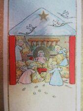211 - Image miniature  - Crèche Naissance - Anges - Dessin enfantin - B.F.2